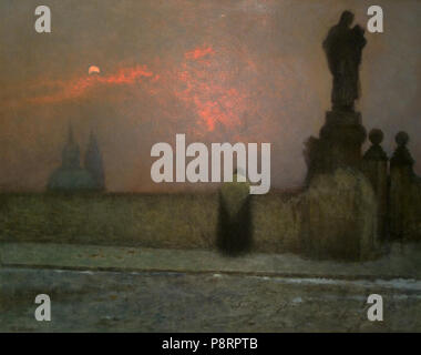 .   347 Jakub Schikaneder 27. 2. 1855-15. 11. 1924 - V podvecer na Hradcanech - Stock Photo