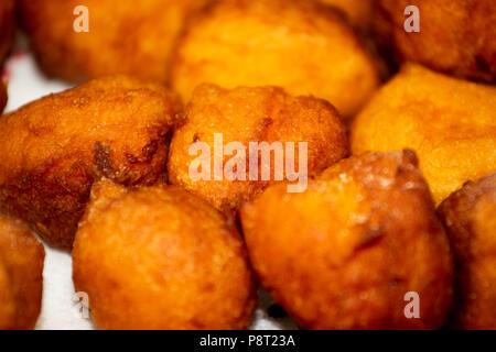 Fried pumpkin cakes - Stock Photo