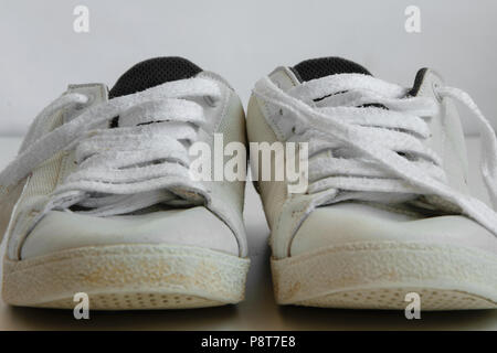 Isolated sneakers on white background - Stock Photo