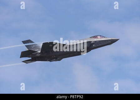 USAF F-35 Lightning II fighter jet plane at Royal International Air Tattoo, RIAT 2018, RAF Fairford. - Stock Photo