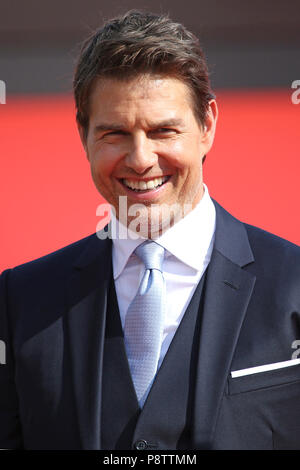 Tom Cruise attending the 'Mission: Impossible - Fallout' world premiere at Palais de Chaillot on July 12, 2018 in Paris, France. - Stock Photo