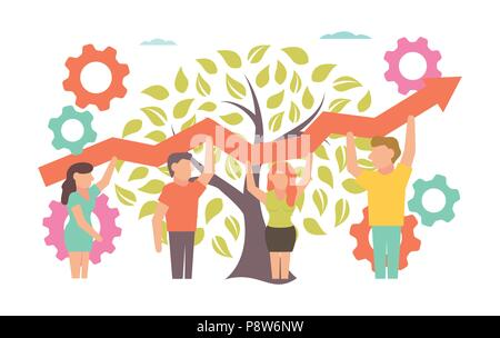 Teamwork Vector illustration for business design and infographic - Stock Photo