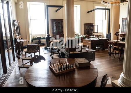 The restored interior of the old Illinois state capital building in Springfield Illinois - Stock Photo