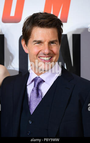 Tom Cruise attending the Mission: Impossible Fallout premiere at the BFI Imax, Waterloo, London. - Stock Photo