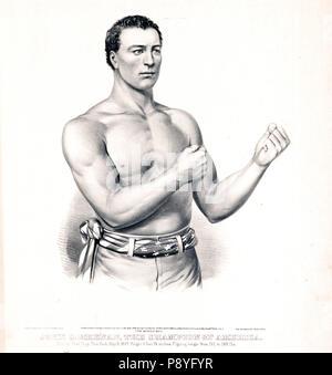 John C. Heenan, the champion of America (the benicia boy) ca 1860 - Stock Photo