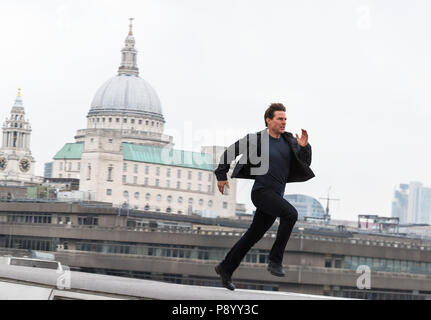 RELEASE DATE: July 27, 2018 TITLE: Mission: Impossible - Fallout STUDIO: Paramount Pictures DIRECTOR: Christopher McQuarrie PLOT: Ethan Hunt and his IMF team, along with some familiar allies, race against time after a mission gone wrong. STARRING: TOM CRUISE as Ethan Hunt. (Credit Image: © Paramount Pictures/Entertainment Pictures) - Stock Photo