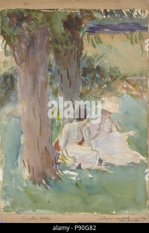 .   352 John Singer Sargent - Under the Willows - - Stock Photo