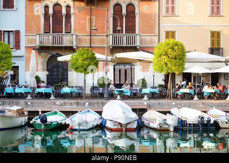 DESENZANO DEL GARDA, ITALY - SEPTEMBER 23, 2016: Beautiful views of Desenzano del Garda, a town and comune in the province of Brescia, in Lombardy, It - Stock Photo