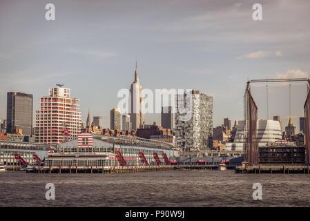 Chelsea Piers, Hudson River Park Pier 61 in New York. - Stock Photo