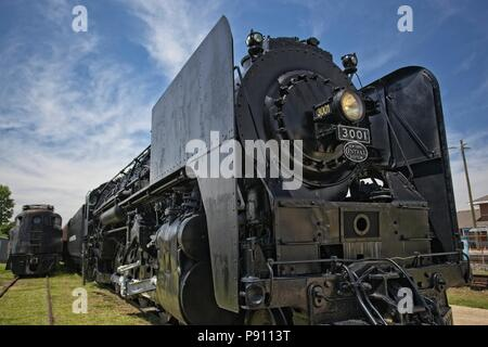 Restored New York central 4-8-2 Mohawk steam locomotive number 3001, built by the American locomotive company of Schenectady New York in 1940. The loc - Stock Photo