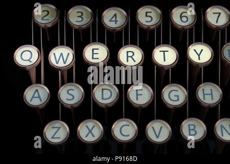 Qwerty typewriter keys. 3d render - Stock Photo