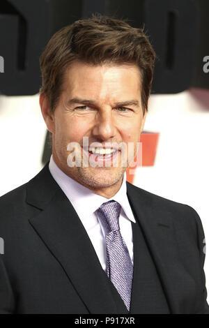 London, UK, 13 July 2018. Tom Cruise, Mission: Impossible - Fallout - UK premiere, BFI IMAX, London, UK, 13 July 2018, Photo by Richard Goldschmidt Credit: Rich Gold/Alamy Live News - Stock Photo