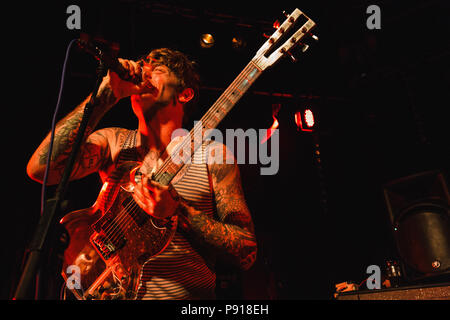 Cambridge, UK. 13th July 2018. The Oh Sees live at The Junction, Cambridge, UK. Richard Etteridge / Alamy Live News - Stock Photo