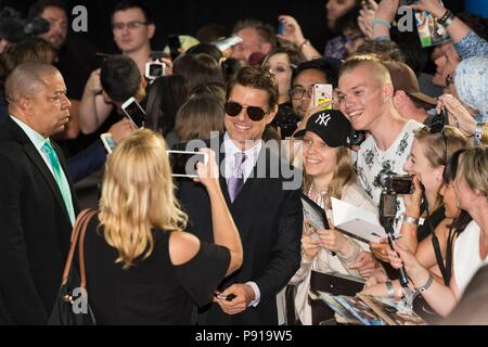 Tom Cruise attends MISSION: IMPOSSIBLE - FALLOUT, UK Premiere. London, UK. 13/07/2018 | usage worldwide - Stock Photo