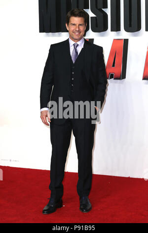London, UK, 13 June 2018. Tom Cruise attends the UK Premiere of 'Mission: Impossible – Fallout' held at the BFI IMAX Credit: Mario Mitsis/Alamy Live News - Stock Photo