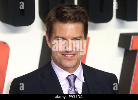 Jul 13, 2018  - Tom Cruise attending 'Mission Impossible - Fallout' UK Premiere at BFI IMAX in London, England, UK - Stock Photo