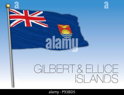 Gilbert and Ellice islands flag - Stock Photo