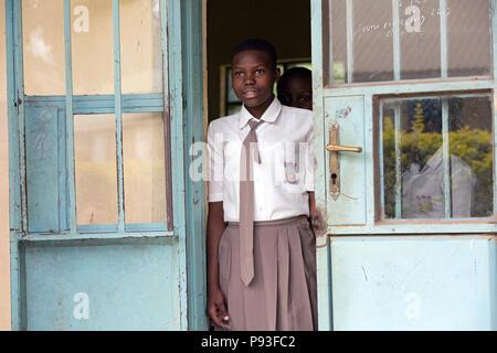 Bombo, Uganda - Education at Don Bosco Vocational Training Center Bombo. - Stock Photo