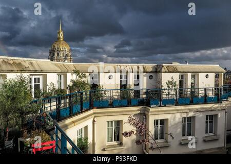 ILLUSTRATION CITY OF PARIS, (75) PARIS, ILE-DE-FRANCE, FRANCE - Stock Photo