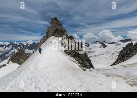 MOUNTAINEERING IN THE HAUTE-SAVOIE (74), AUVERGNE RHONE ALPES, FRANCE - Stock Photo