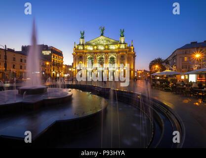Lviv Opera House - Stock Photo