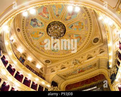 Lviv Opera house ceiling - Stock Photo