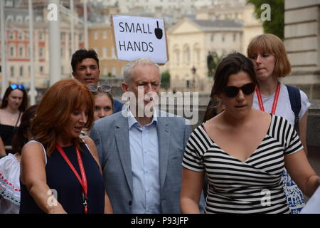 Anti-Trump March in Central London 13th July 2018 - Stock Photo