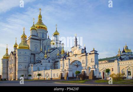 Photo of Pochayiv Lavra, UKRAINE - June 29 2018. Day time - Stock Photo