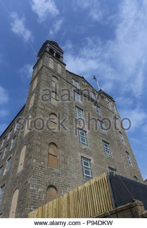 Exterior of Hotel Indigo with logo and flag Dundee Scotland  July 2018 - Stock Photo