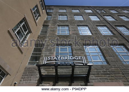 Sign for Staybridge Suites Dundee Scotland  July 2018 - Stock Photo