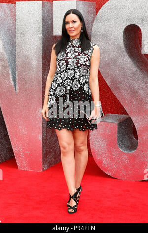 The European Premiere of Ocean's 8 held at the Cineworld Leicester Square - Arrivals  Featuring: Linzi Stoppard Where: London, United Kingdom When: 13 Jun 2018 Credit: Mario Mitsis/WENN.com - Stock Photo
