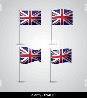 united kingdom country london flags vector illustration - Stock Photo
