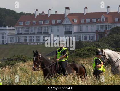 President Donald Trump at Trump Turnberry Golf resort in Ayrshire, Scotland, UK - Stock Photo