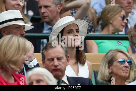 London, UK. 14th July 2018. Emma Watson.  Ladies Finals Day, Day 12 Wimbledon Tennis The Championships, Wimbledon, London, on July 14, 2018. Credit: Paul Marriott/Alamy Live News - Stock Photo