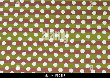 Seamless stripe polka dot pattern background - Stock Photo