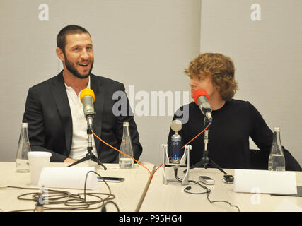 New York, NY. Press event for STARS' American Gods television show with stars Pablo Schreiber, Bruce Langley. April 17, 2017. @ Veronica Bruno / Alamy - Stock Photo