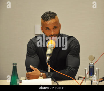 New York, NY. Press event for STARS' American Gods television show with star Ricky Whittle. April 17, 2017. @ Veronica Bruno / Alamy - Stock Photo