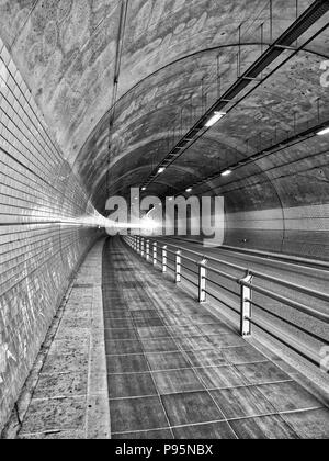 Korea Cheongju City Tunnel, Kowloon Tunnel - Stock Photo