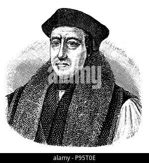 Cranmer, Thomas (1489-1556), English Archbishop of Canterbury and Reformer,   1881 - Stock Photo