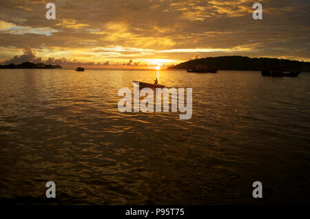 sunset over the south china sea - Stock Photo