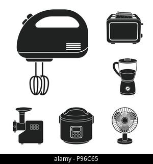 Toaster Kitchen appliances. Icon in thin line style Stock Vector Art ...