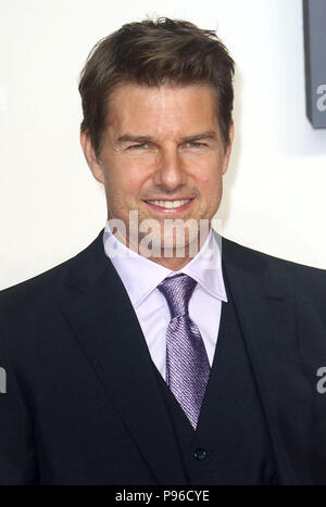 LONDON - JUN 13, 2018: Tom Cruise attends the UK Premiere of Mission: Impossible – Fallout held at the BFI IMAX - Stock Photo