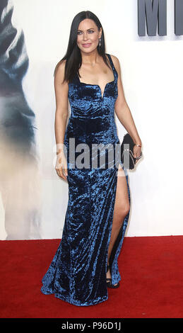 LONDON - JUN 13, 2018: Linzi Stoppard attends the UK Premiere of Mission: Impossible – Fallout held at the BFI IMAX - Stock Photo