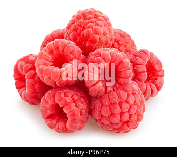 raspberry path isolated - Stock Photo