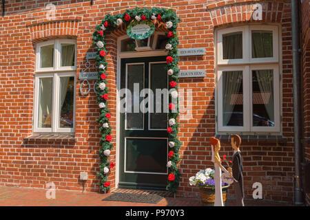 Registry office, with Grossefehn, East Frisia, Lower Saxony, Germany, Europe - Stock Photo