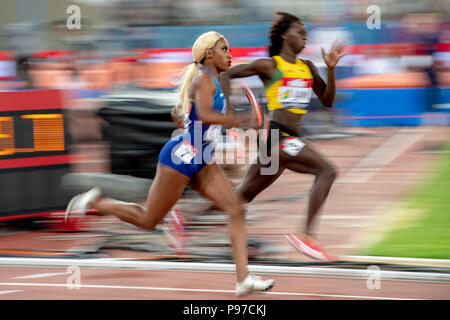 London, UK. 14th July 2018. The Athletics World Cup  at the London Stadium, London, Great Britiain, on 14 July 2018. Credit: Andrew Peat/Alamy Live News - Stock Photo