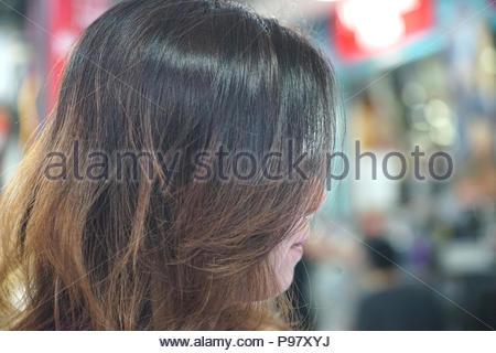 long hair women fullframe potrait - Stock Photo