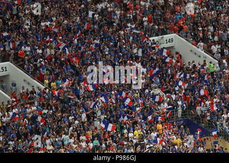 Moscow, Russia. 15th July 2018. Fan of France during the match between France and Croatia valid for the 2018 World Cup Final held at the Luzhniki Stadium in Moscow, Russia. (Photo: Ricardo Moreira/Fotoarena) Credit: Foto Arena LTDA/Alamy Live News - Stock Photo
