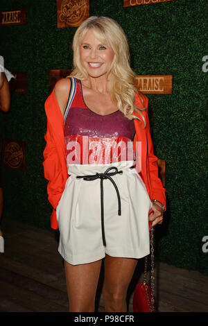 Miami Beach, FL, USA. 15th July, 2018. Christie Brinkley attends the 2018 Sports Illustrated Swimsuit show at Paraiso during Miami Swim Week at The W Hotel South Beach on July 15, 2018 in Miami Beach, Florida. Credit: Mpi04/Media Punch/Alamy Live News