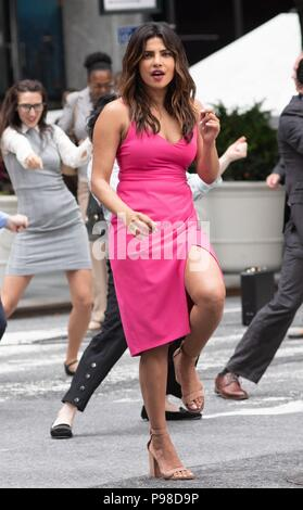 New York, NY, USA. 15th July, 2018. Priyanka Chopra on location for ISN'T IT ROMANTIC On Location in New York, East 40th Street and Park Avenue, Manhattan, New York, NY July 15, 2018. Credit: RCF/Everett Collection/Alamy Live News - Stock Photo